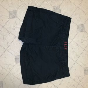 black cotton shorts Elle